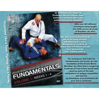 Gracie Barra Fundamentals Curriculum 4 DVD Set-Marcio Feitosa