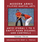 Modern Arnis Filipino Martial Arts-Anyo Form 1 to 5 Empty Hand Disarms and Controls-Remy Presas