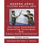 Modern Arnis Filipino Martial Arts-Two Cane Continues Disarming Techniques and Empty Hand Translation-Remy Presas